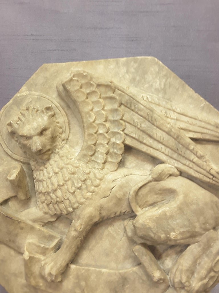 English Majestic Winged Lion Building Fragment, Birmingham, Late 18th-Early 19th Century For Sale