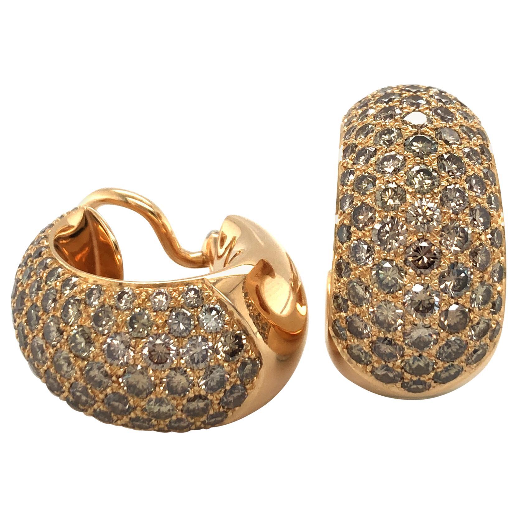 Majo Fruithof Diamond Earclips in 18 Karat Rose Gold