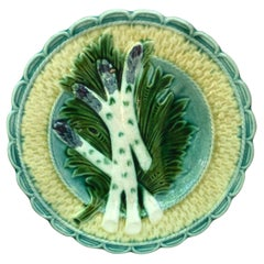 Majolica Asparagus Plate Salins, circa 1880