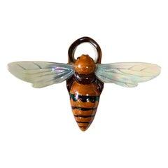 Majolica Bee Wall Pocket Sarreguemines, circa 1920