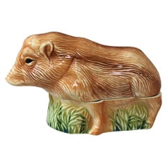Majolica Boar Tureen Caugant