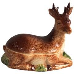 Majolica Brown Deer Tureen Caugant