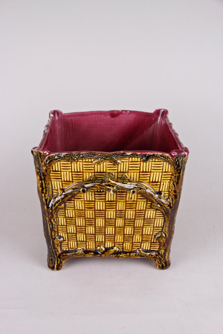 20th Century Majolica Cachepot or Planter, France, circa 1910 For Sale
