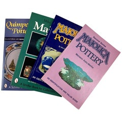 Majolica Ceramics & French Quimper Pottery Collectors Reference Books, Set of 4