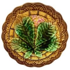 Majolica Chesnut Leaf Plate Villeroy & Boch, circa 1890