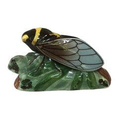 Majolica Cicada Sicard, circa 1940