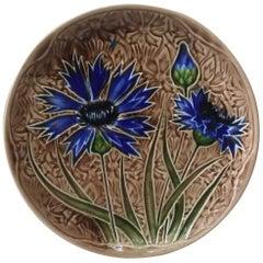 Majolica Cornflower Plate Villeroy & Boch, circa 1890