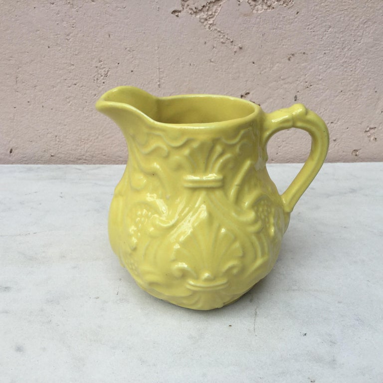 Early 20th Century Majolica Creamer Pitcher Onnaing, circa 1920 For Sale