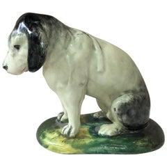 Majolica Dog Jerome Massier Fils, circa 1890