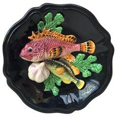 Majolica Fish Wall Platter Vallauris, circa 1950