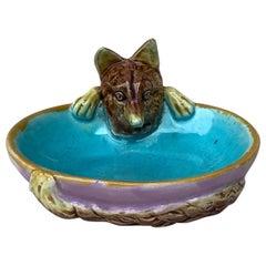 Majolica Fox Dish or Vide-Poche George Jones, circa 1869