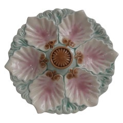 Majolica Handled Oyster Plate Orchies, circa 1890