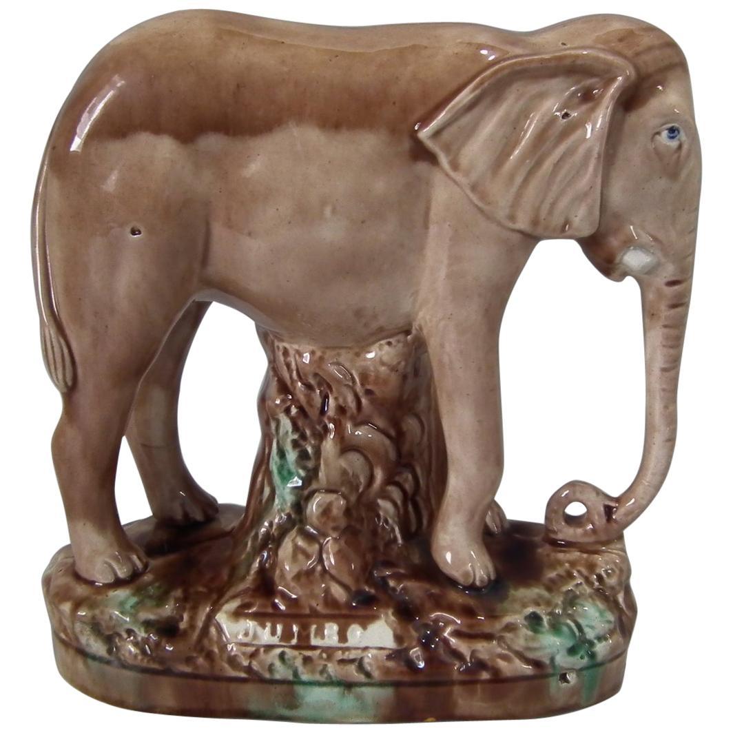 Majolica 'Jumbo' Elephant Figure