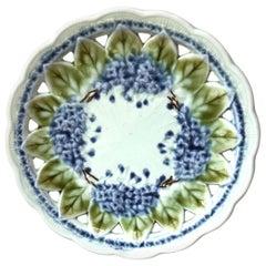 Majolica Lilac Reticulated Plate Villeroy & Boch, Circa 1900