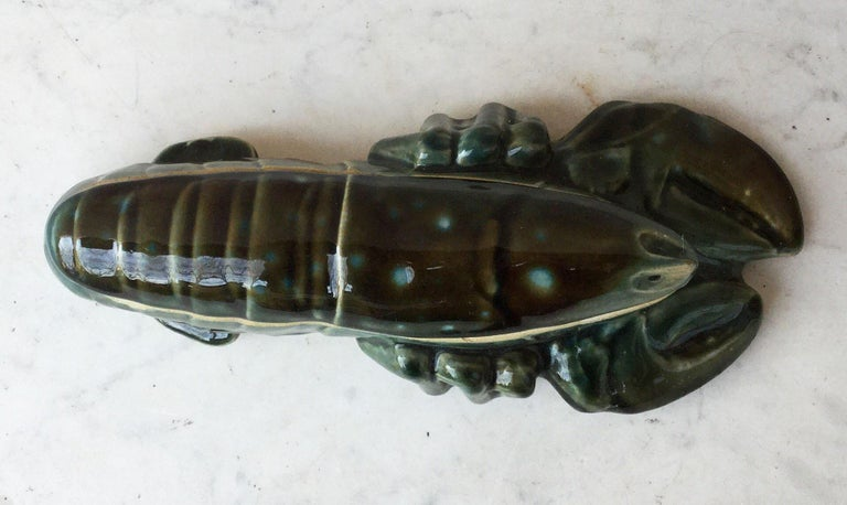 Majolica Lobster Tureen, circa 1950 In Good Condition For Sale In The Hills, TX
