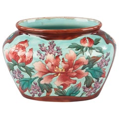 Majolica Longchamp Ceramic Urn, Early 1900s