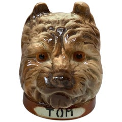 Majolica Money Bank Tom Terrier Saint Clement, circa 1900