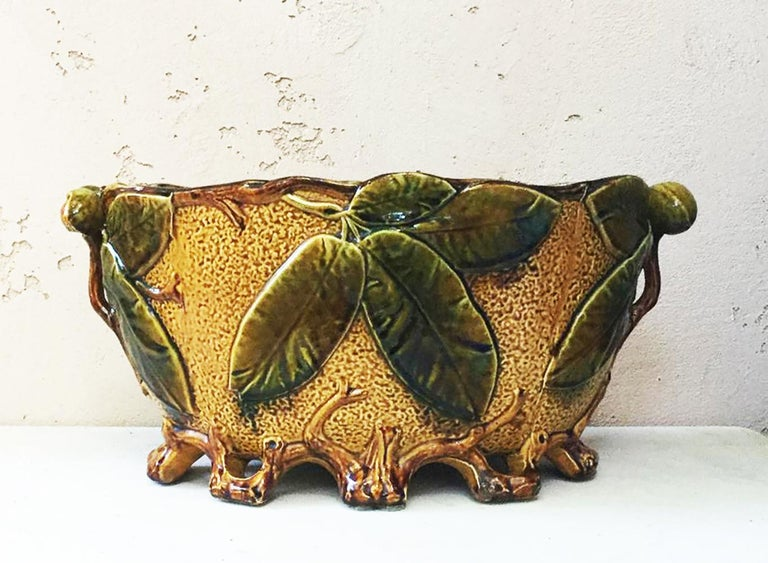 Majolica Nautical Planter Onnaing, circa 1880 For Sale 3