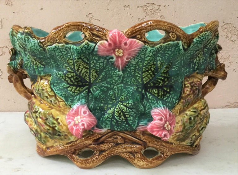 Majolica Nautical Planter Onnaing, circa 1880 For Sale 4