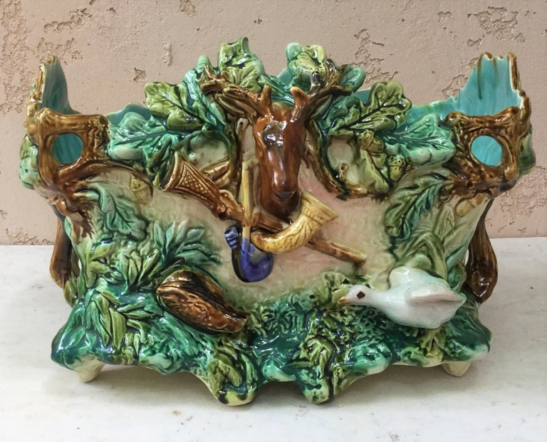 Majolica Nautical Planter Onnaing, circa 1880 For Sale 6