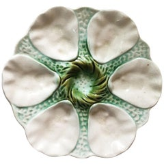 Majolica Oyster Plate Orchies, circa 1900