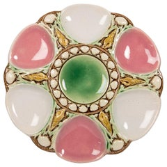 Majolica Oyster Plate with Sea Shells