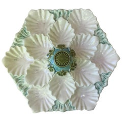 Majolica Oyster Platter Orchies, circa 1900
