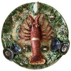 Majolica Palissy Portuguese Lobster Wall Platter, circa 1940