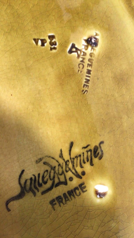 Majolica Pansies Basket Sarreguemines, circa 1920 2