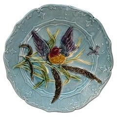 Majolica Saint Amand Bird Plate, circa 1890