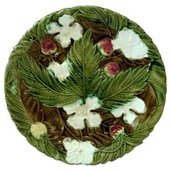 Majolica Strawberries Plate Orchies, circa 1890