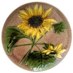 Majolica Sunflower Platter Villeroy & Boch, circa 1900