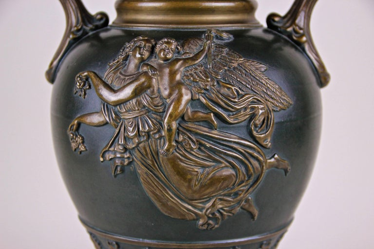 Czech Majolica Vase by J. Maresch, Bohemia, circa 1880 For Sale