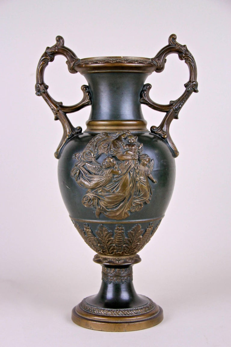 Majolica Vase by J. Maresch, Bohemia, circa 1880 In Good Condition For Sale In Lichtenberg, AT