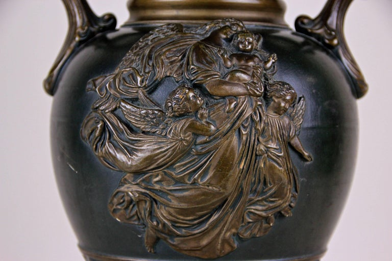 19th Century Majolica Vase by J. Maresch, Bohemia, circa 1880 For Sale