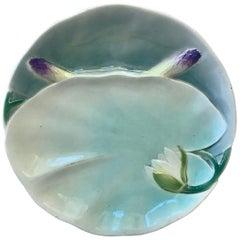 Majolica Water Lily Asparagus Plate Keller & Guerin Saint Clement