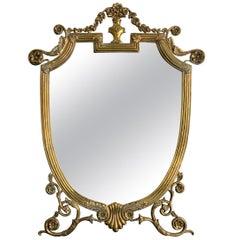 Make-Up Mirror in Brass