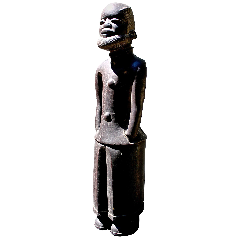 Makonde Male Figure in European Dress African Art