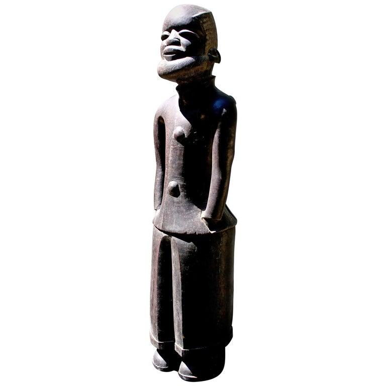 Makonde Male Figure in European Dress African Art For Sale