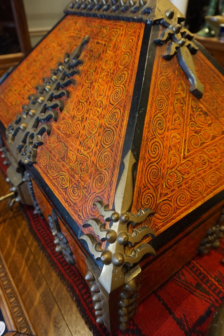 Late 19th Century Malabar Document Safe Chest, 19th Century For Sale