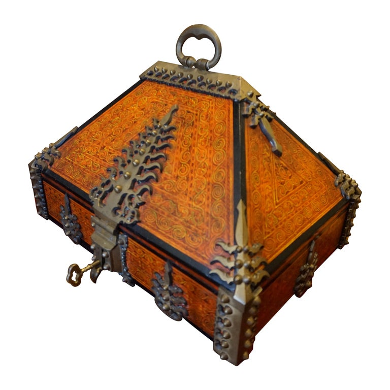 Malabar Document Safe Chest, 19th Century For Sale
