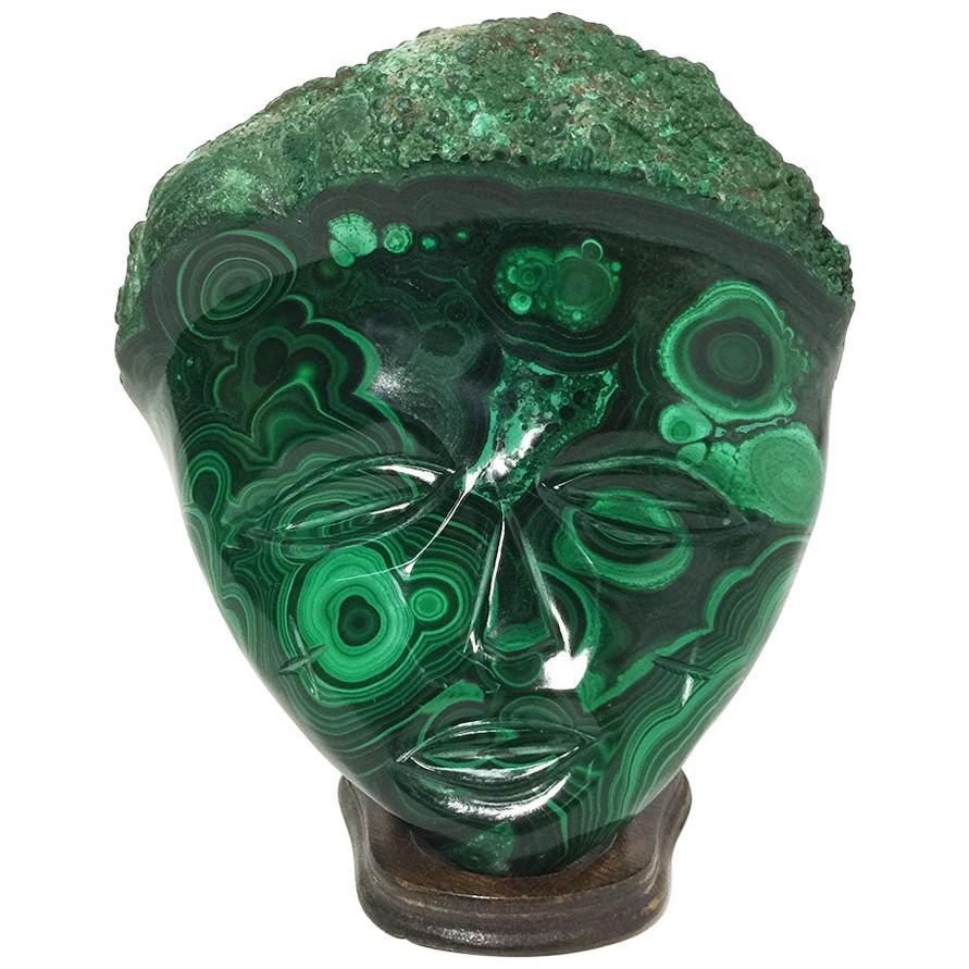 Malachite African Wall Decoration Mask