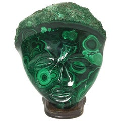 Malachite African Wall Decoration Mask
