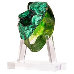 Malachite and Glass Sculpture