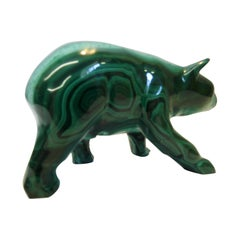 Malachite Carving in the Form of a Bear Midcentury