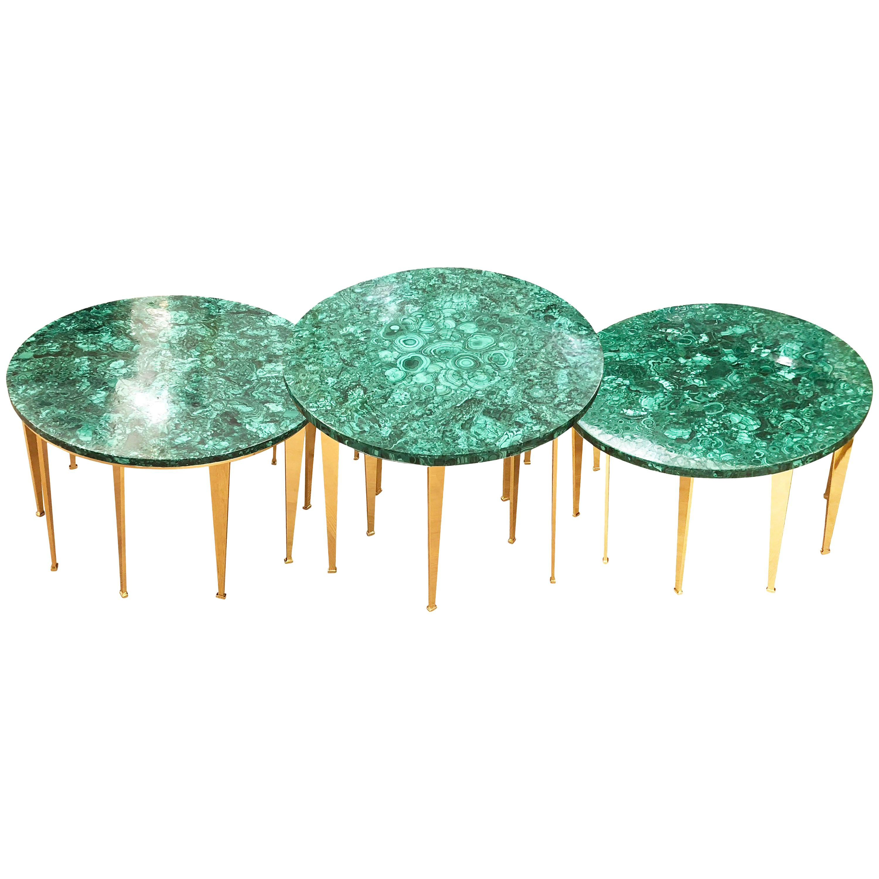Malachite Coffee Table or Side Tables