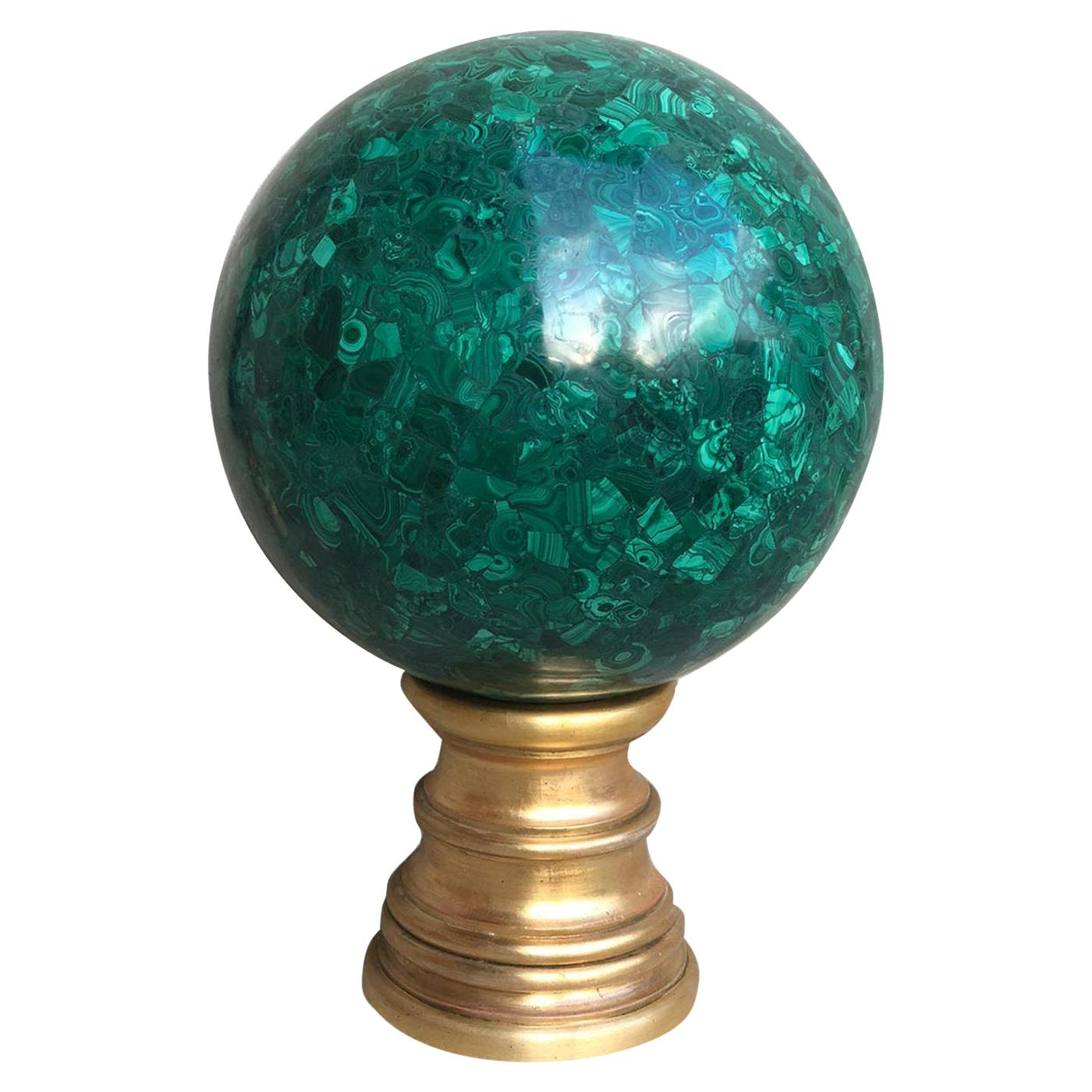Malachite Decorative Sphere