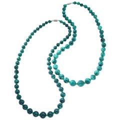 Malachite Pair of Necklace