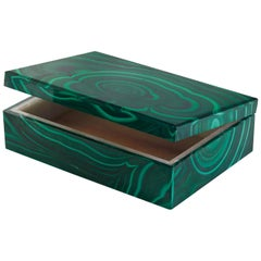 Malachite Stone Casket Box