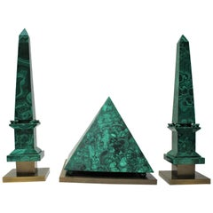 Malachite Pyramid and Obelisks by Claude de Muzac